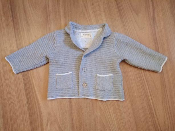 Sweterek - marynarka do chrztu 60cm