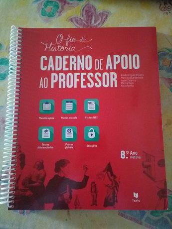"""Caderno de Apoio ao Professor """"O fio da História"""" 8° ano"""