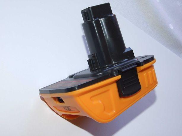 adapter konwerter przejściówka akumulator dewalt 18V na nowe baterie
