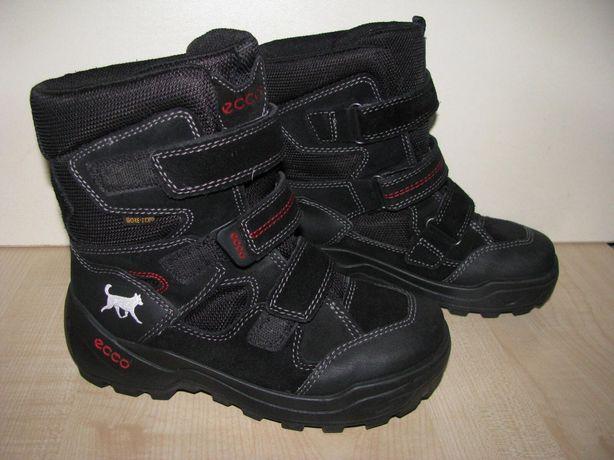 Ecco зимние  ботинки мальчику 34 р бу сост отл  22см стелька
