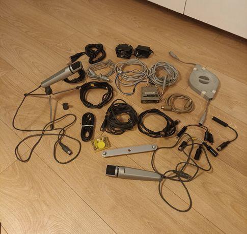 Mikrofony Uher M534 z zestawem kabli