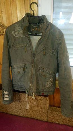 Девочка.Зимняя,красивая курточка LOVELY,р.14.США.Вышивка,мех,прикольна