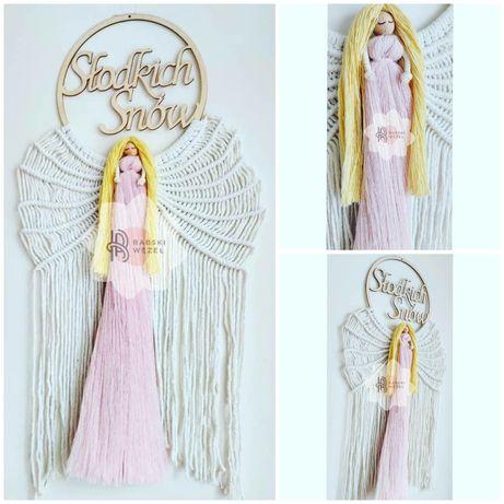 Aniołek, makrama