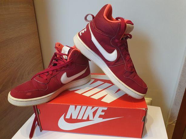 Buty obuwie sportowe NIKE.  Bordowo białe.