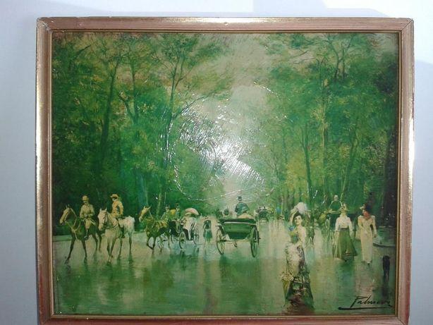 Quadro de Pintura, Motivo Sociedade dos Anos 20, Antigo
