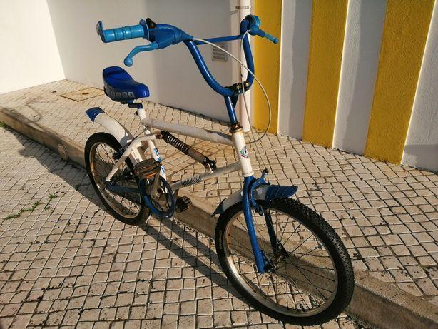 Bmx c/40anos criança/jovem azul e branca