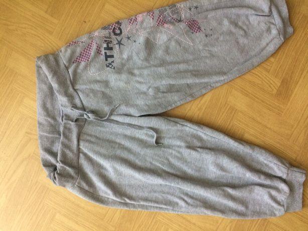 Dresowe spodnie rybaczki dresy