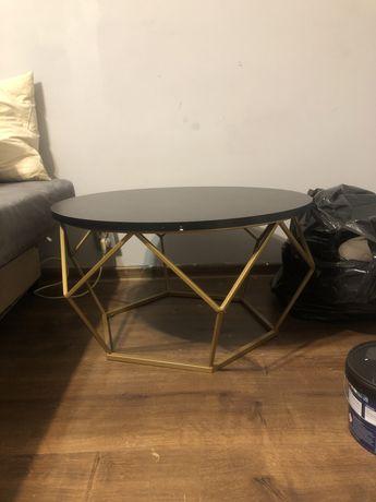 Stolik czarno-złoty