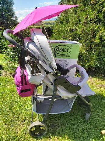 Wózek spacerowy 4 Baby rapid premium Light grey