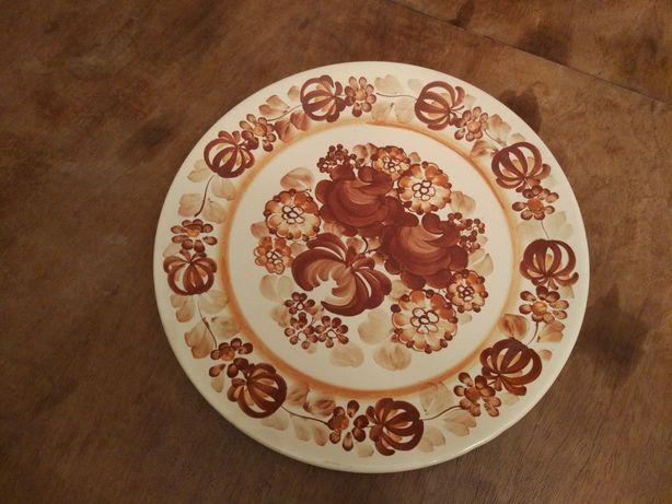 Talerz duży ręcznie malowane rękodzieło Włocławek