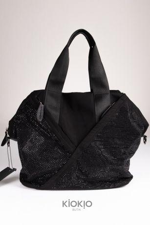 Nowa torba damska nylonowa z cyrkoniami