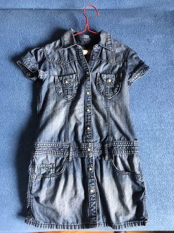 Sukienka jeansowa denim 128
