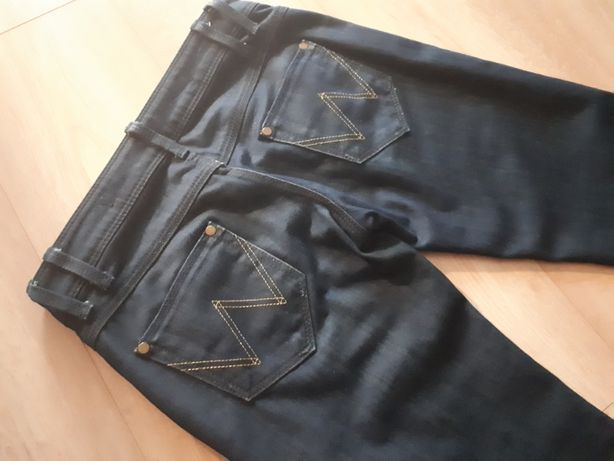 Spodnie jeansowe Wrangler 36 S jeansy ciemny granat wyprzedaż
