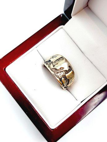 Złoty Pierścionek Pr: 333 Waga: 5,11 G R.17 Plus Lombard