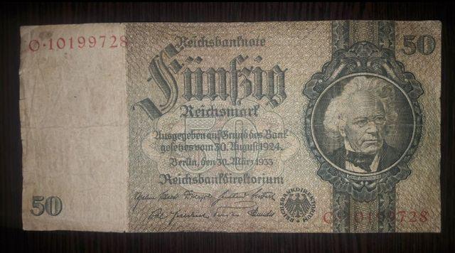 50 Рейхсмарок 1933 года