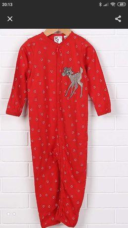 Продам комбинезон человечек на кнопочках H&M  красный 150 грн