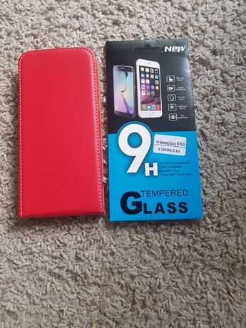 Skórzane Etui +szyba Samsung Galaxy S8 plus