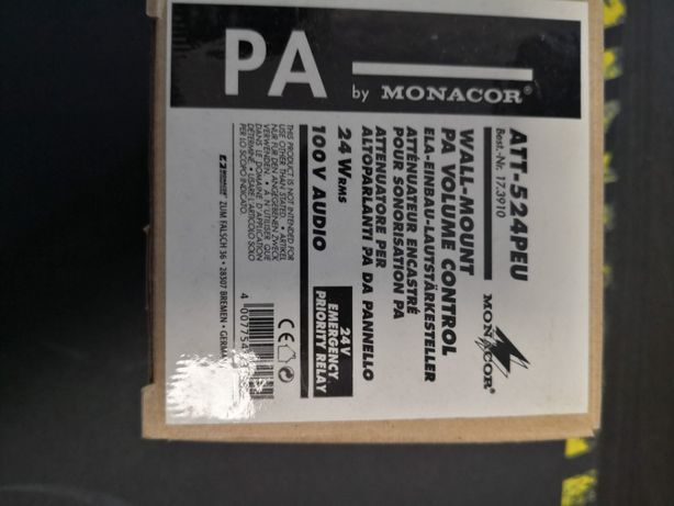 Regulator Głośności Monacor ATT-524PEU 24W RSM 100V