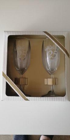 Kieliszki na 25 rocznicę ślubu