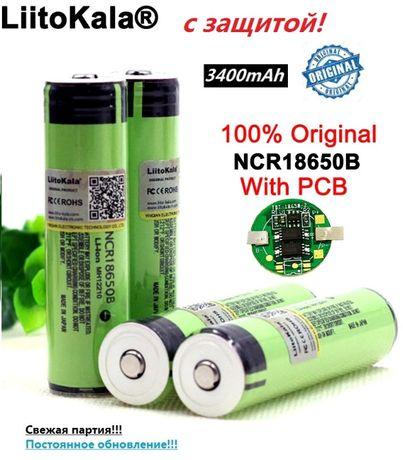 Аккумулятор NCR18650B Panasonic 18650 Li-ion 3400mAh с защитой