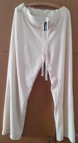 Spodnie dresowe białe welur rozmiar XL 48/50 C&A