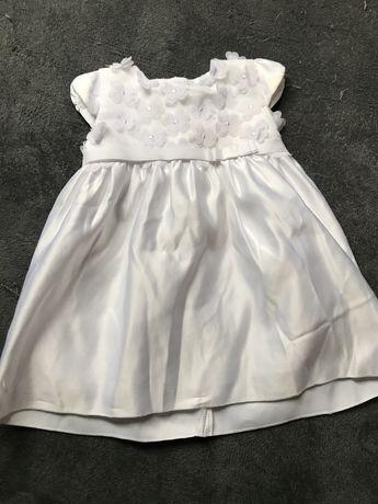 Sukienka chrzest cocodrillo 68 swieta, roczek. Biala