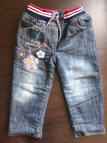 Тёплые джинсы на девочку 2-3 года