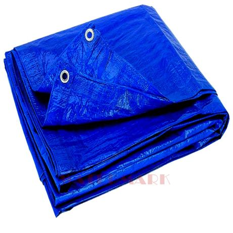 PLANDEKA 10x15 Niebieska wzmacniana 75G/M2