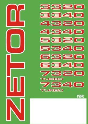 ZETOR Ciągniki 3320, 4320, 5320, 6320 do 7340 Katalog części!
