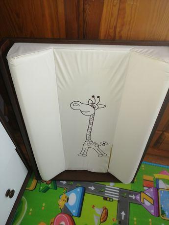 Zestaw mebli dziecięcych Klupś safari żyrafka wenge ecru