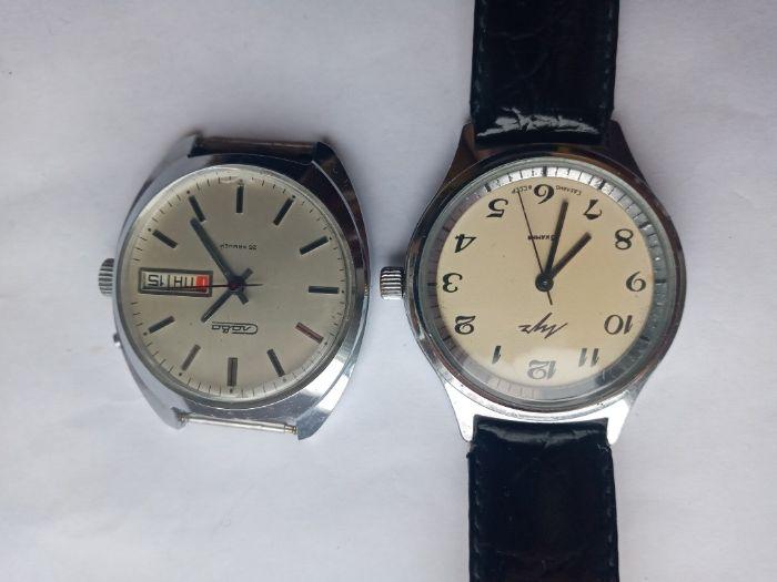 Советские часы Луч и Слава полностью рабочие, цена за двое! Монастырище - изображение 1