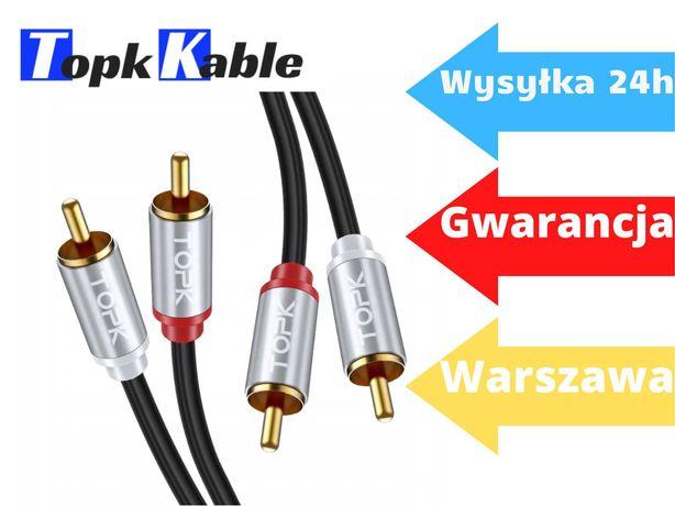 Kabel RCA 2X RCA - 2xRCA chinch TOPK 1M