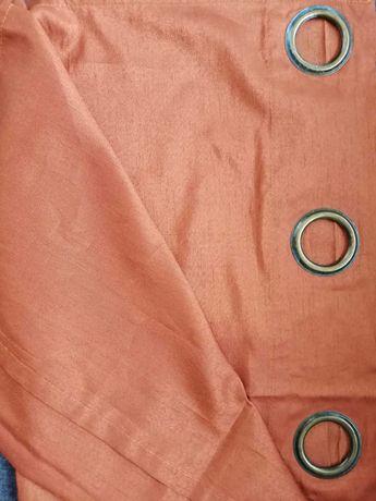Zasłony kolor rdzawy/miedziany