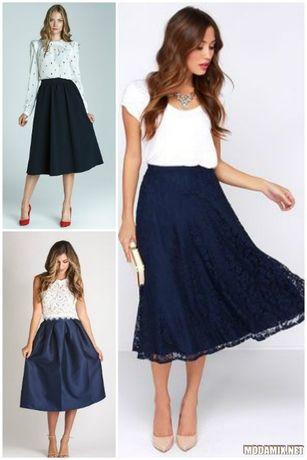 Шикарное платье блуза + юбка черно белое