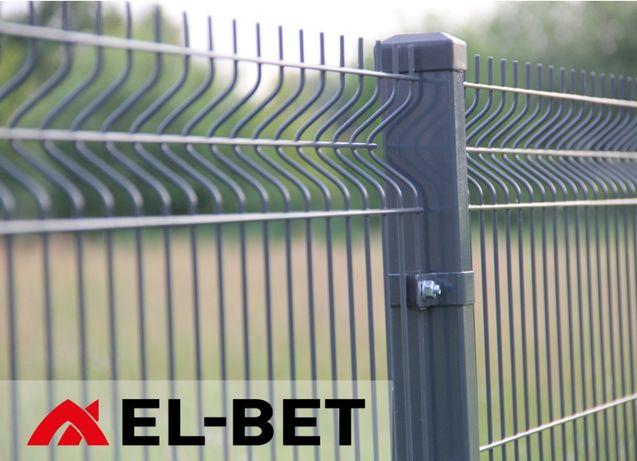 Słupki 60x40x1,5 mm do paneli ogrodzeniowych, słupek ocynk+RAL, panel