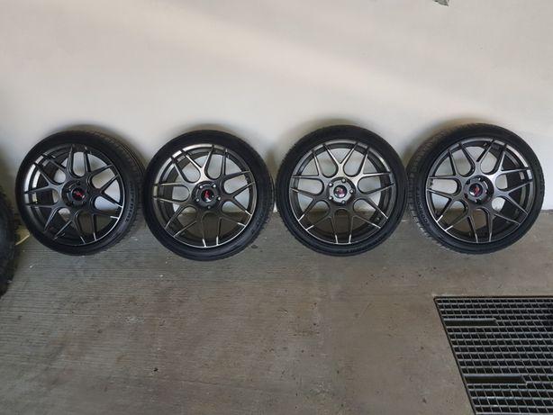 Japan Racing JR18 19 cali ET35 5x120 Hiper Black 2x8.5 | 2x9,5 + opony