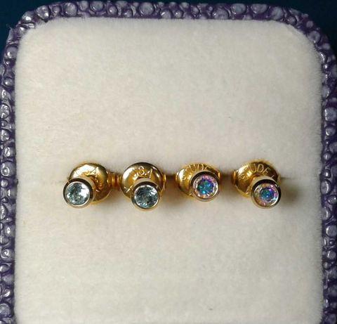 Серьги гвоздики для девочки медицинское золото