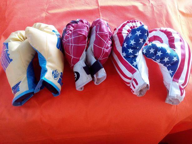 детские боксерские перчатки 3 пары