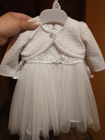 Sukienka do Chrztu w komplecie.