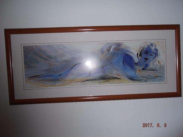 """Quadro de parede """"MUSA"""" pintado em 1987"""