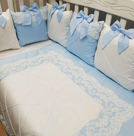 Комплект 5 в 1 в кроватку Бортики в кроватку