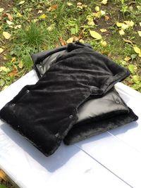 Мех черный коротковорсовый «Саванна»