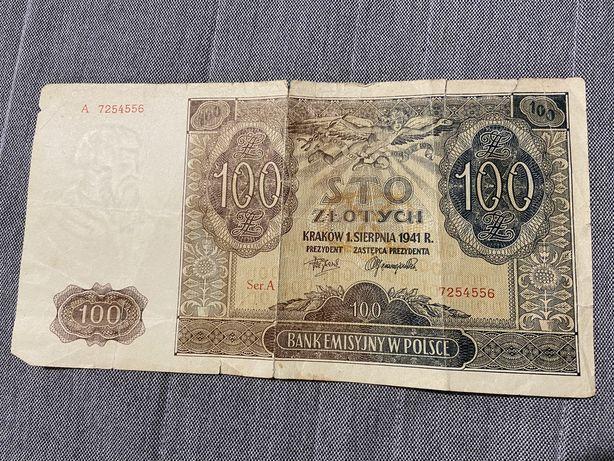 Bankont 100 zł z 1941 roku, ser A
