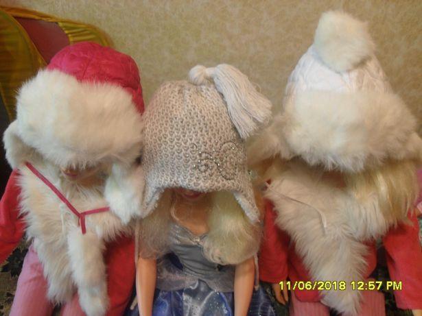 Зимняя шапка для девочки 3-6 лет.
