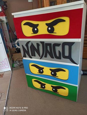 Komoda biala, LEGO NINJAGO, 4 szuflady, nowa