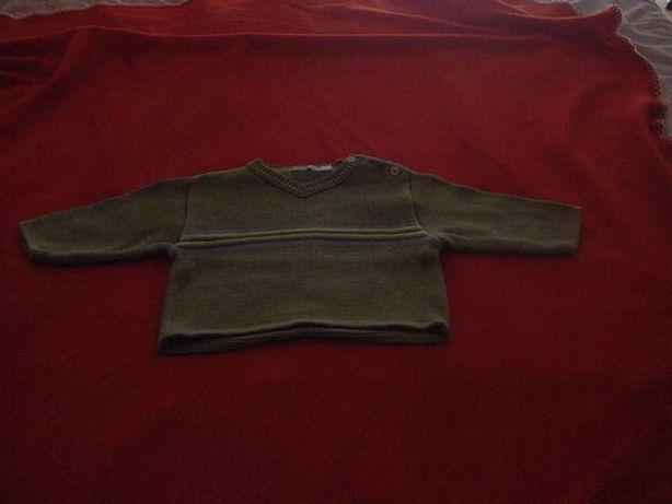 Camisola verde (6 meses)