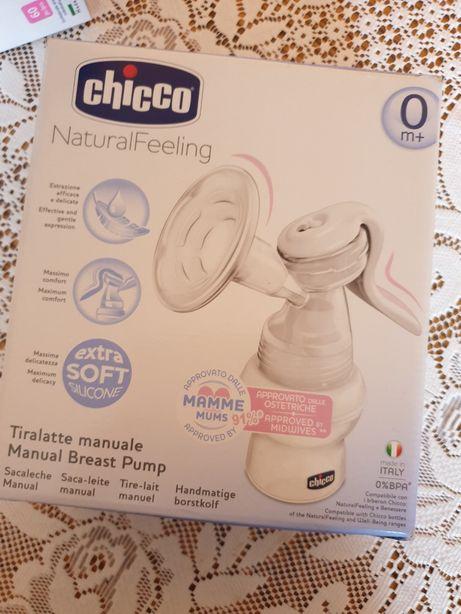 Chicco Laktator Manualny Natural Feeling + wkładkilaktacyjne
