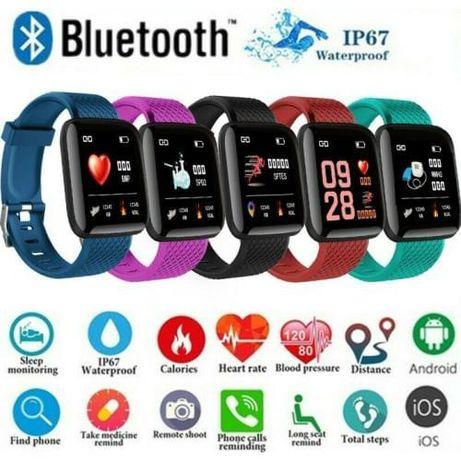 Умные фитнес браслет Smart Watch 116 годинник тонометр Смарт часы