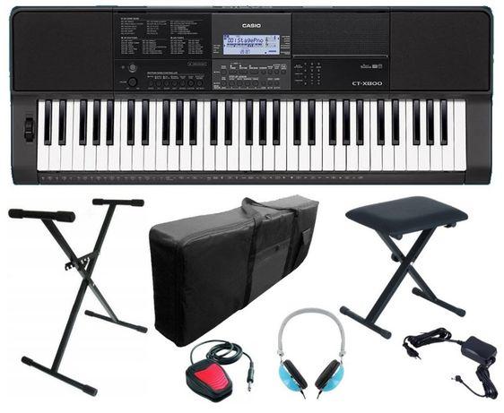 Keyboard Casio CT X800 Statyw Pokrowiec Ława Słuchawki Pedał NOWY