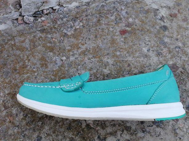 Оригинальные кожаные кроссовки мокасины Geox respira p37 cm 24 cm